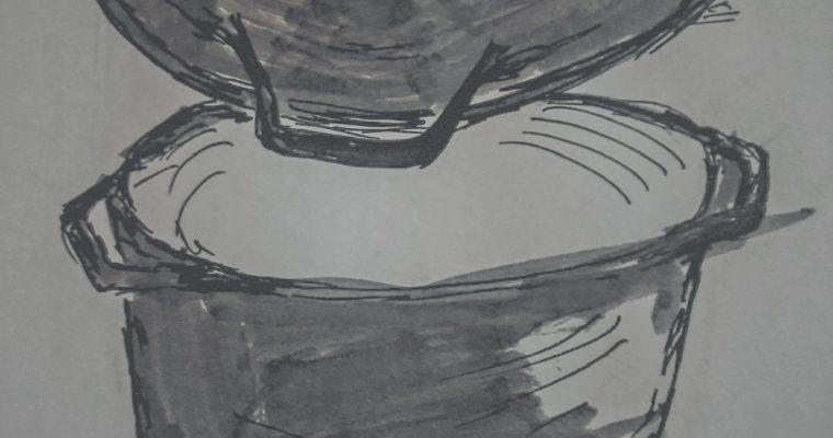 Garnek żeliwny i patelnia żeliwna w jednym