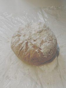 Tarta brioszkowa truskawka rabarber - ciasto następnego dnia