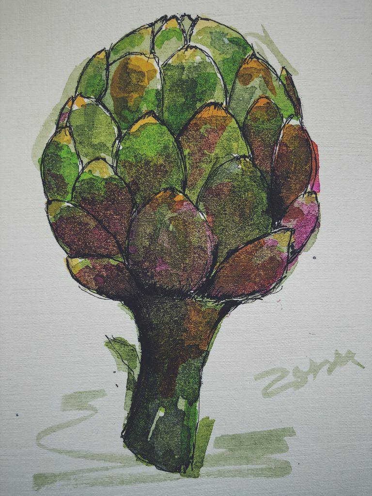 Karczochy rysunek Zosiu