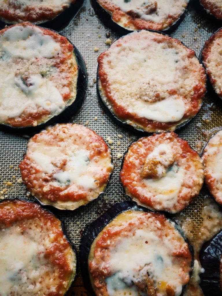 Pizzetki bez ciasta, pizza wegetariańska