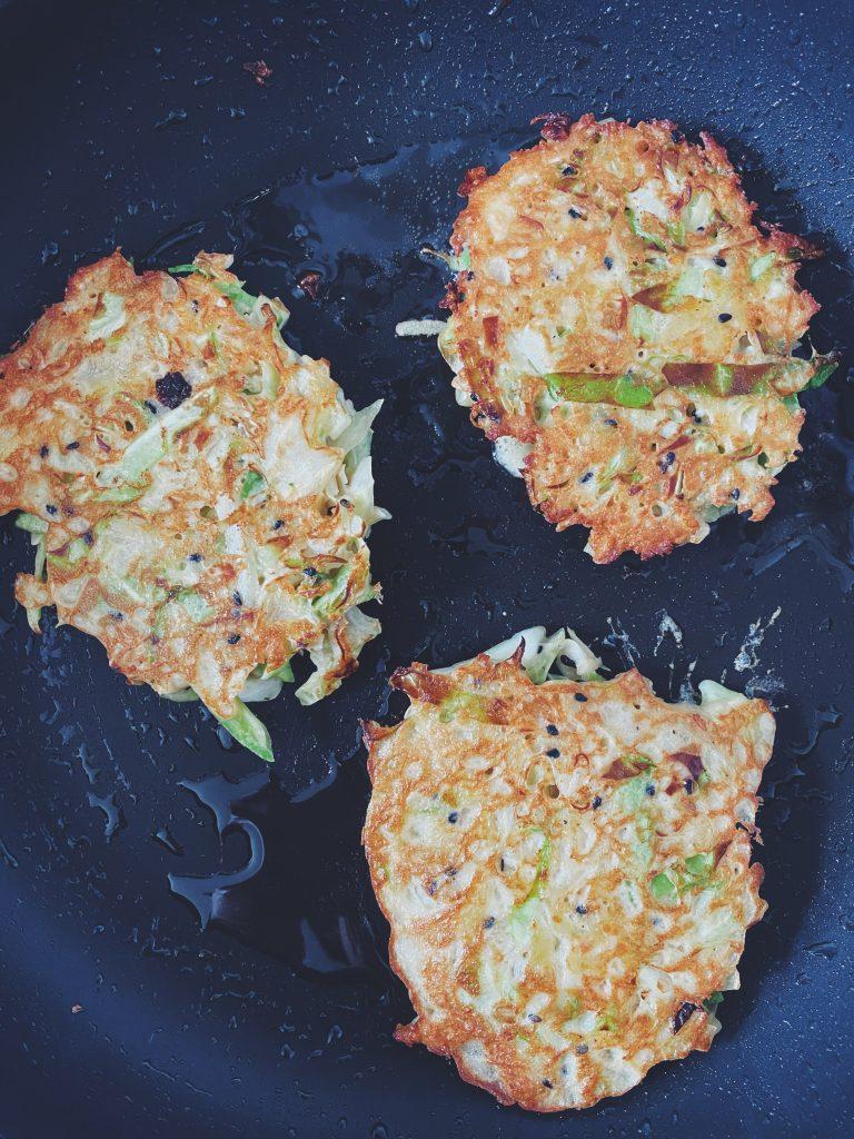 Kotlety wegetariańskie - okonomiyaki